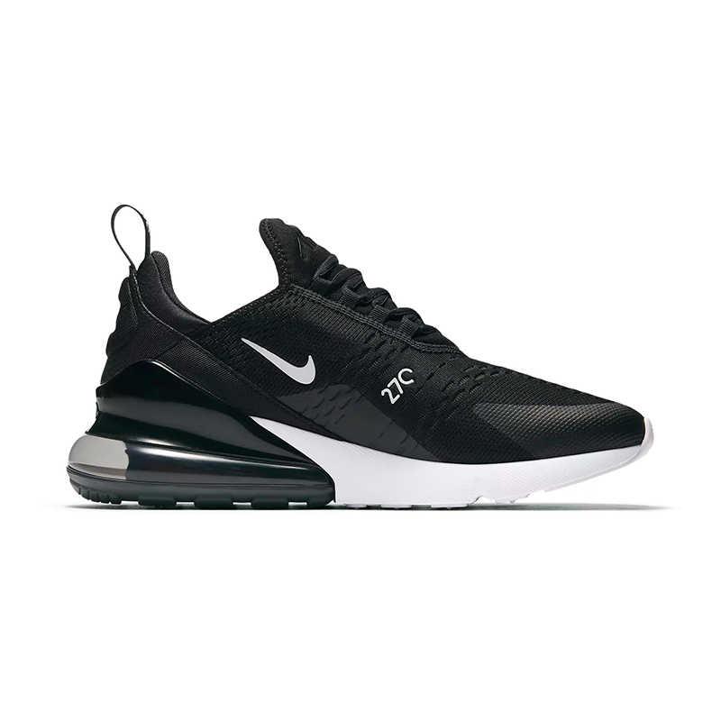 Nike air max 270 tênis de corrida feminino preto antiderrapante desgastar-oposição tênis esportivos leves AH6789-001