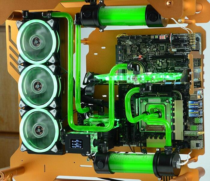 FREEZEMOD PC водяное охлаждение умная скорость потока воды Обнаружение температуры двойной G1/4 внутренняя резьба жидкокристаллический дисплей LSJ-ZN