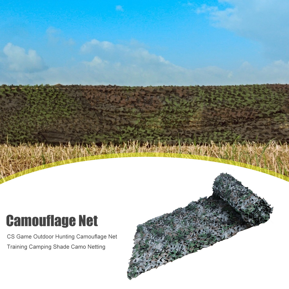 Car Cover Shelter Training Camping Shade CS Game Outdoor Hunting Camouflage Net Travelling Easy Carrying Portable Parts