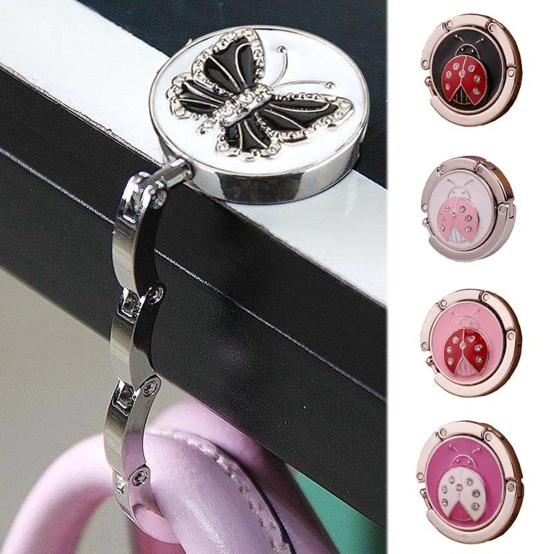 Women Handbag Hook Portable Butterfly Bag Purse Holder Folding Table Tote Hanger