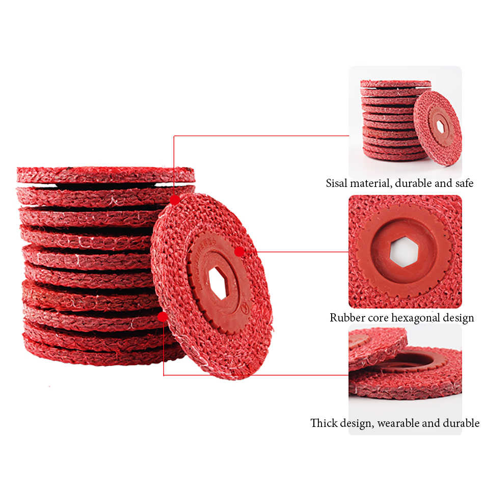 1PC דיסקי דש קנבוס ליטוש גלגל עבור מתכת ליטוש טחינת גלגלים דש דיסקים ngle מטחנות מלטש דיסקים מתכת פלסטיק a68