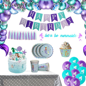 Little Mermaid Party Latex Balloon Banner Home Decor Mermaid Theme Birthday Supplies For Kids Favors Wedding Party Decorations