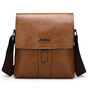 Image 5 - JEEP BULUO Men Shoulder Bag Set Big Brand Crossbody Business Messenger Bags Casual pu Leather For Man Fashion New Hot Salling