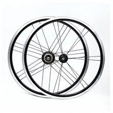 """Одна пара 16x1 3/""""(349) черный 2/3/4/5 скоростей комплект легких колес весом 14/21 отверстие 820g для brompton"""