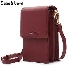Petits sacs à bandoulière en cuir souple pour femmes, sac à main de styliste de marque, portefeuille pour téléphone Fashion avec fermeture éclair