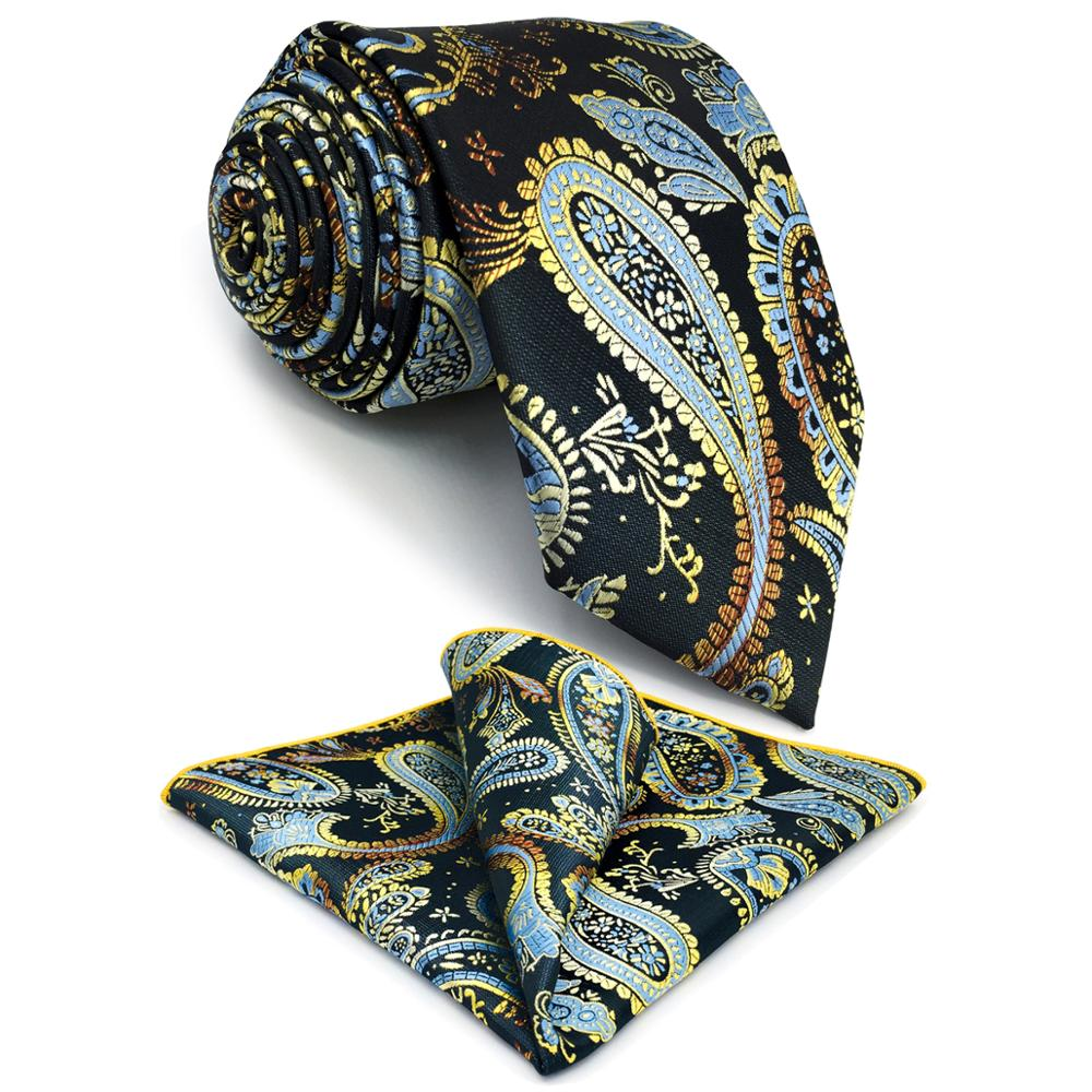 G10 Multicolor Paisley Mens Neckties Set Silk Classic Party Ties For Men 63