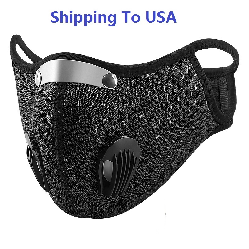 Shipping To USA Unisex Activated Reusable Carbon Filter Windproof Dust-Proof Lightweight Quick Dry Outdoor Sports