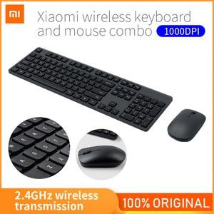 Image 1 - Xiaomi Drahtlose Tastatur & Maus Set 2,4 GHz Tragbare Multimedia Mi Maus Tastatur Combo Notebook Laptop Für Office Home