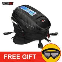 WOSAWE Motorcycle waterproof Tank Bag Moto Mobile Phone GPS Navigation Bag Motobike Motocross Multifunctional Travel Bag