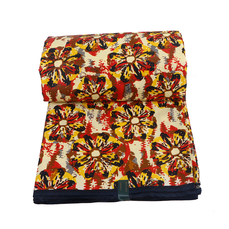2019 New Fashion Arrivals African Dutch Wax Colourful Flowers Printed Fabric African Wax Printed Fabric 6Yards\lot