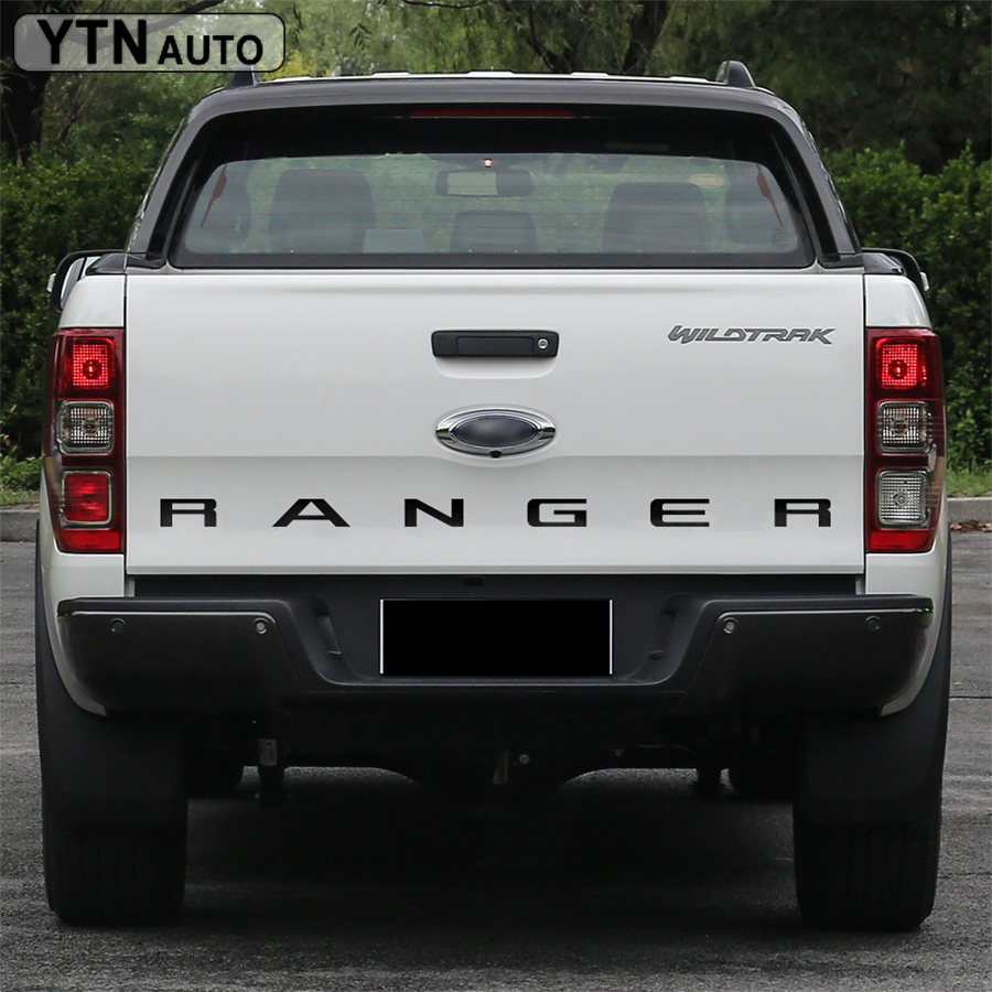 Car Decals 1Piece Protect Scratch Tail Gate Letter Graphic Vinyls Stickers Custom For FORD RANGER