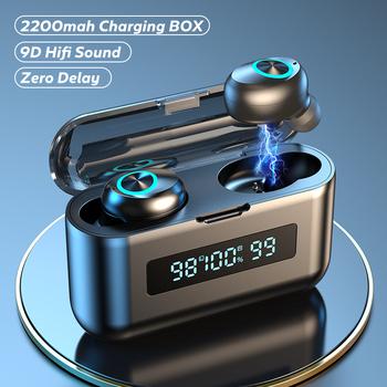 TWS słuchawki bezprzewodowe z Bluetooth 2200Mah etui z funkcją ładowania sportowe wodoodporne słuchawki douszne Bluetooth 5 0 słuchawki douszne z mikrofonem tanie i dobre opinie XPOKO NONE Dynamiczny CN (pochodzenie) wireless 120±3dBdB 10mW 0Nonem Do gier wideo Zwykłe słuchawki do telefonu komórkowego