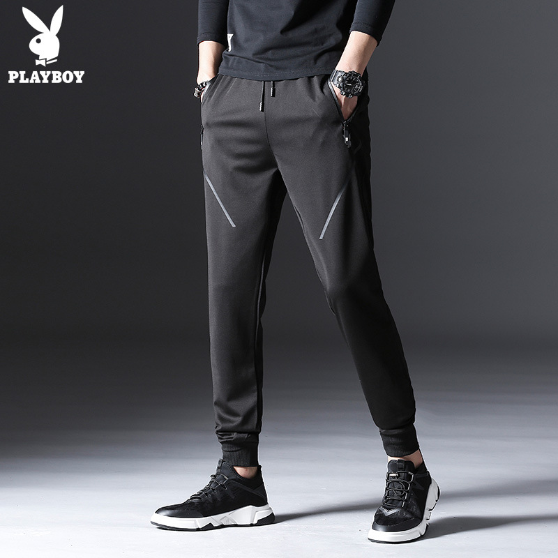 Strength Can Order PLAYBOY Youth-Korean-style Slim Fit Pants Harem Pants