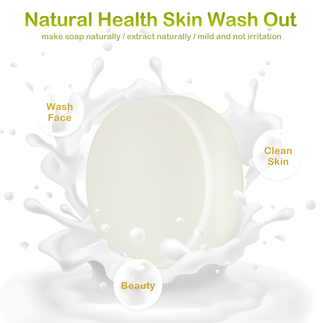 1PCS Handmade Soap Goat's Milk Smooth Skin Tightening Pores Deep Cleansing Removal Pimple Pore Acne Treatment Face Care TSFH 3