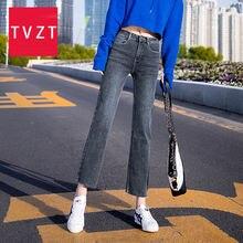 Женские ковбойские широкие брюки tvzt новые корейские джинсы
