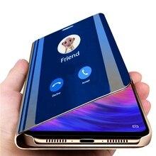 mirror flip case for xiaomi mi 9t 8 a9 se a2 lite a3 6 max3