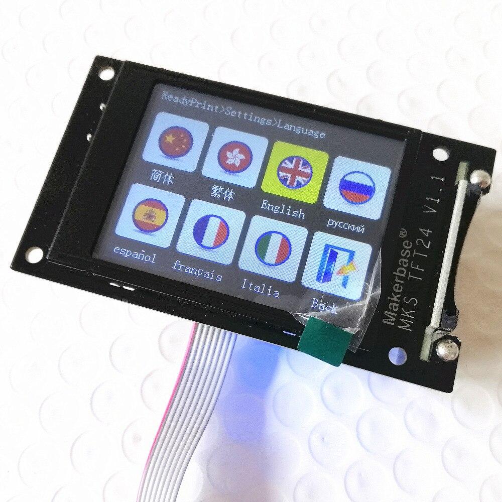 Imprimante 3d LCD unité MKS TFT24 écran tactile panneau de contrôleur RepRap TFT 24 écran couleur SainSmart écran d'éclaboussure