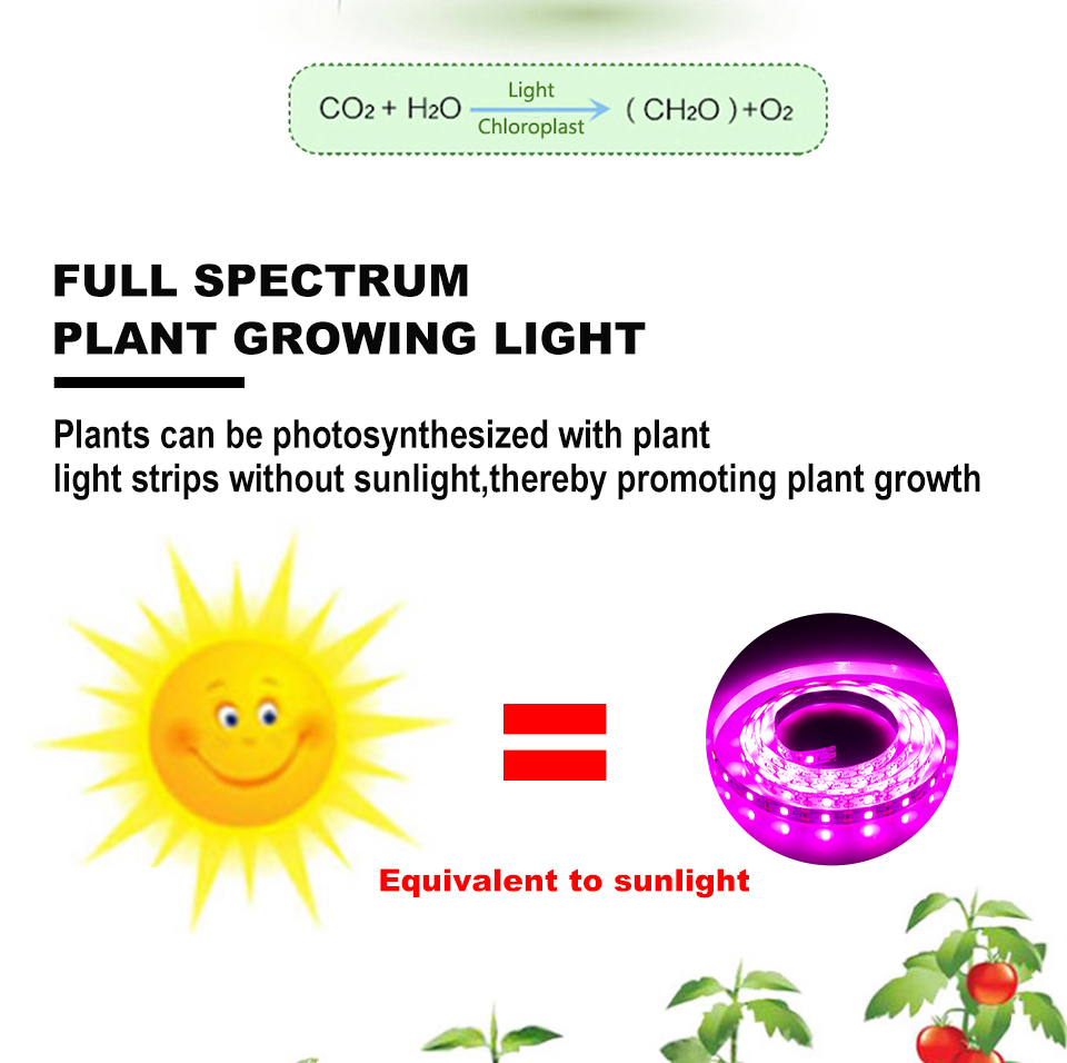 FOXGBF LED Full-spectrum light belt to promote plant growth, sunlight effect, indoor planting succulent and leafy plate planting (3)