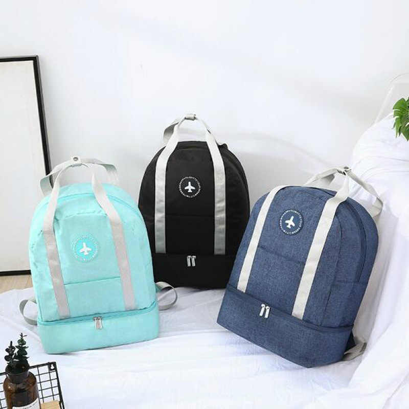 Men Women Multi-function Travel Backpack Fitness Bag Travel Large Capacity Waterproof Clothes Shoes Storage Bag New 2019