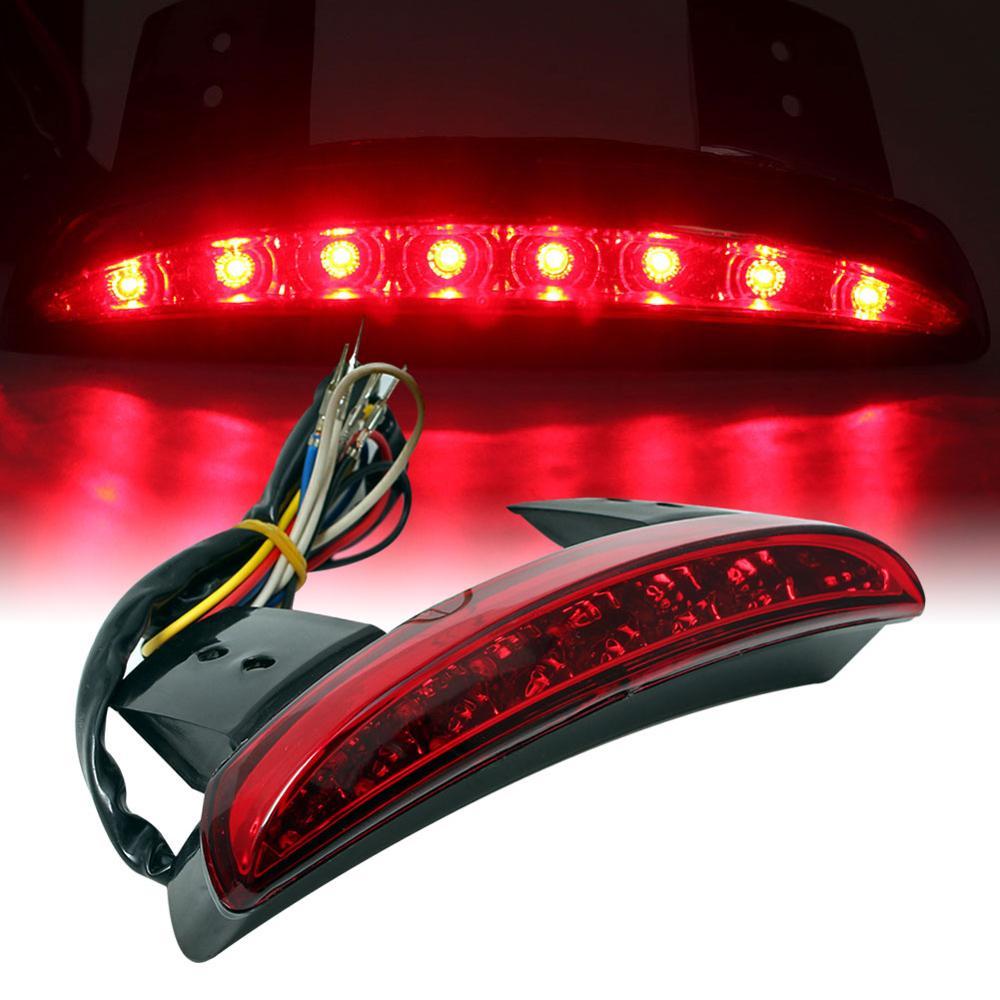 Motorcycle Taillight Rear Light LED Flasher Fender Edge Red Auto Motorbike Stop Brake Lamp for Harley Sportster 1200