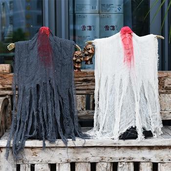 Halloween Creepy Props Decorations No Head Hanging Halloween Ghost Halloween Horror Ghosts Electric Grim Reaper Scary Ghost