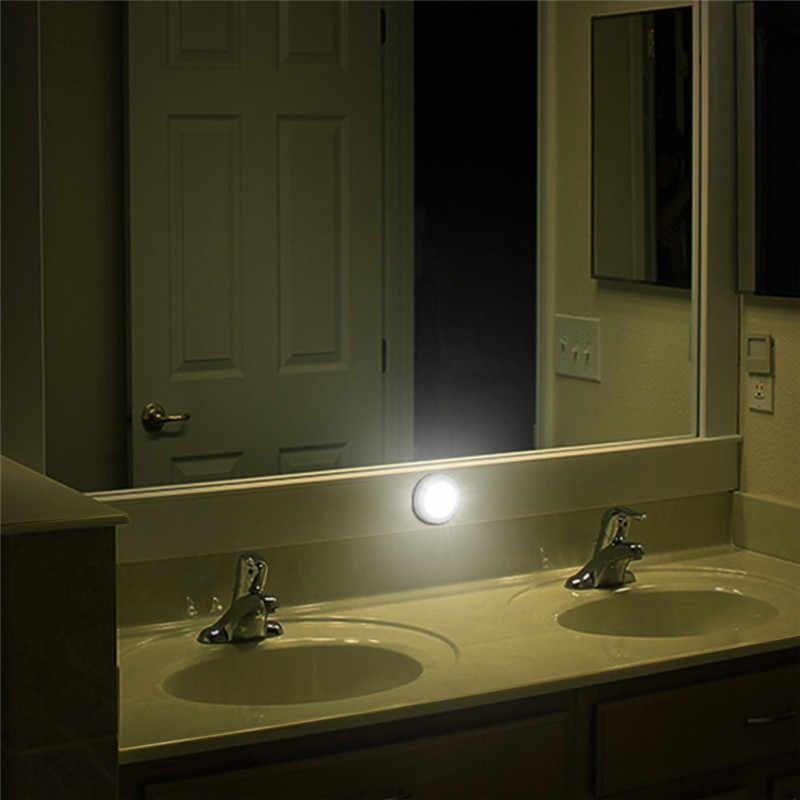 6 светодиодный Ночной светильник с датчиком движения, светильник для туалета, магнитный беспроводной детектор, настенные лампы, Автоматическое включение/выключение, шкаф, прихожая, шкаф, светильник