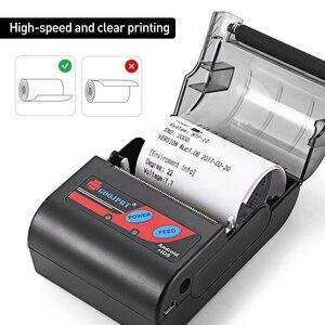 Image 2 - Impresora térmica Bluetooth de 58mm y 2 pulgadas, Mini Impresora inalámbrica portátil de bolsillo para teléfono Android, Windows, aplicación gratuita Loyverse
