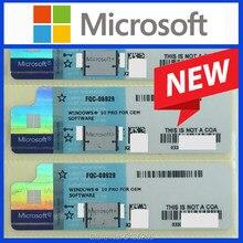 Autocollant bleu Microsoft Windows 10 Pro, clé OEM COA Win 10 professional, étiquette de domicile globale en ligne, licence à vie, OS 7
