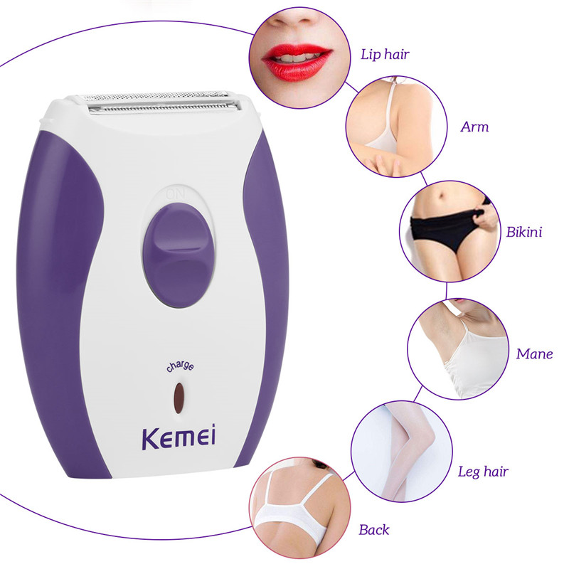 Electric Women Shaver Epilator Rechargeable Hair Removal Trimmer Lady Razor Shaving  Painless For Female Leg Bikini Underarm 47