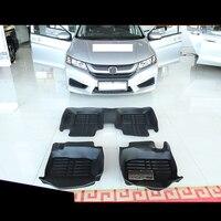 fiber leather car floor mat for honda city 2008 2009 2010 2011 2012 2013 2014 2015 2016 2017 2018 2019 accessories