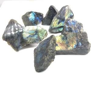 Image 3 - Labradorite pedra áspera natural esculpida pedaços de minério espécime labradorite móvel luz energia cura