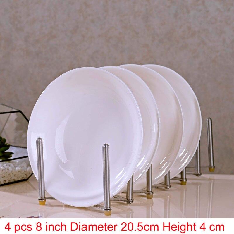 Jingdezhen porcelaine porcelaine vaisselle | Porcelaine, vaisselle pour la salle à manger, vaisselle en céramique assiettes à soupe profonde, assiettes à Sushi 4 pièces/ensemble - 4