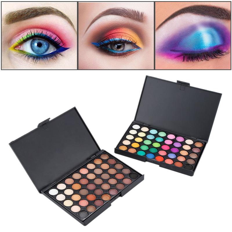 NEW 40 Colors Matte Shimmer Eyeshadow Makeup Palette Earth Color Eye Shadow Pallete Pearl Long Lasting Makeup Cosmetic Set TSLM2 2
