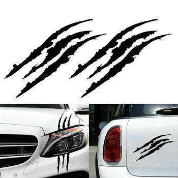 2Pcs Car Sticker Monster Scratch Stripe Claw Marks For Mitsubishi Outlander ASX Lancer EX L200 Mirage Pajero Galant image