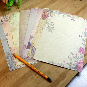 10 Sheets/set Vintage Message Writing Letter Paper Creative Flower Pattern Letter Pad Student Paper Letter For Office School