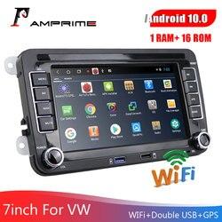 Автомобильный мультимедийный плеер AMPrime, 2 Din, автомагнитола на Android 7