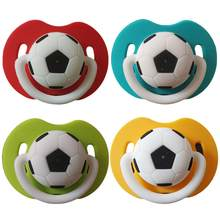 3M PCS Football Baby Infant Toddler Soft Silicone Pacifier Teat Dummy Nipple Soothers New(China)