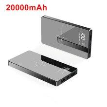 Tề Power Bank 20000MAh 2 Cổng USB Sạc Pin Ngoài Cho iPhone X XS 8 Plus 11 Pro Samsung Xiaomi mi 9 Không Dây Công Suất Ngân Hàng