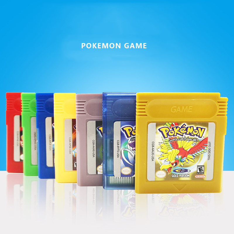 Pokemon English version GB GBC Game Cassette Classic  Serie Video Game Cartridge Console Card Classic Game Kleurrijke Versie
