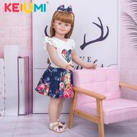 Full Silicone Cute 78 CM Stand Toddler Baby Doll Lifelike Girl bebe reborn Dressed Up Handmade Reborn Baby Dolls Collection Toy