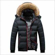Faliza新冬メンズジャケット厚い付きの毛皮の襟パーカー男性はコートカジュアル入りメンズジャケットプラス 7xl MY20