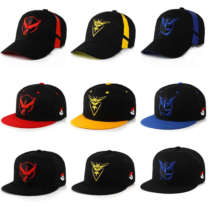 anime-font-b-pokemon-b-font-baseball-caps-cosplay-team-mystic-team-valor-team-instinct-embroidered-hat-outdoor-sunhat-cottonadjustable-pokemo