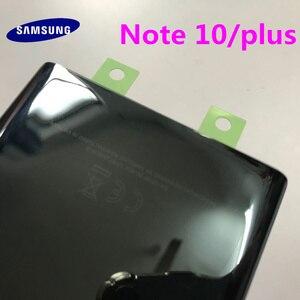 Image 4 - Arka Panel pil cam arka kapı kapak Samsung Galaxy not için 10 N970 NOTE10 artı N975 N975F ön yapışkan çıkartmalar + araçları