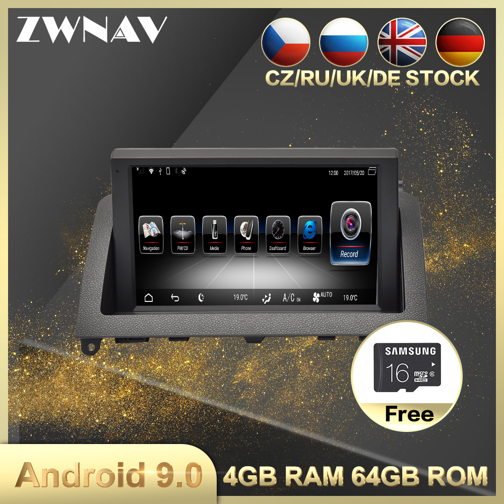 4G+64G Android 9.0 Car Multimedia Player GPS Navigation For Mercedes-Benz C-Class W204 2007-2011 Car Auto Radio Stereo Head Unit