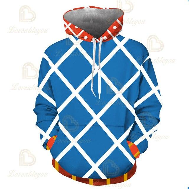 Anime JOJO'S BIZARRE ADVENTURE GUIDO MISTA Cosplay Costumes Hoodies Sweatshirts Bakugou Todoroki Shoto Spring/Autumn Coat 3