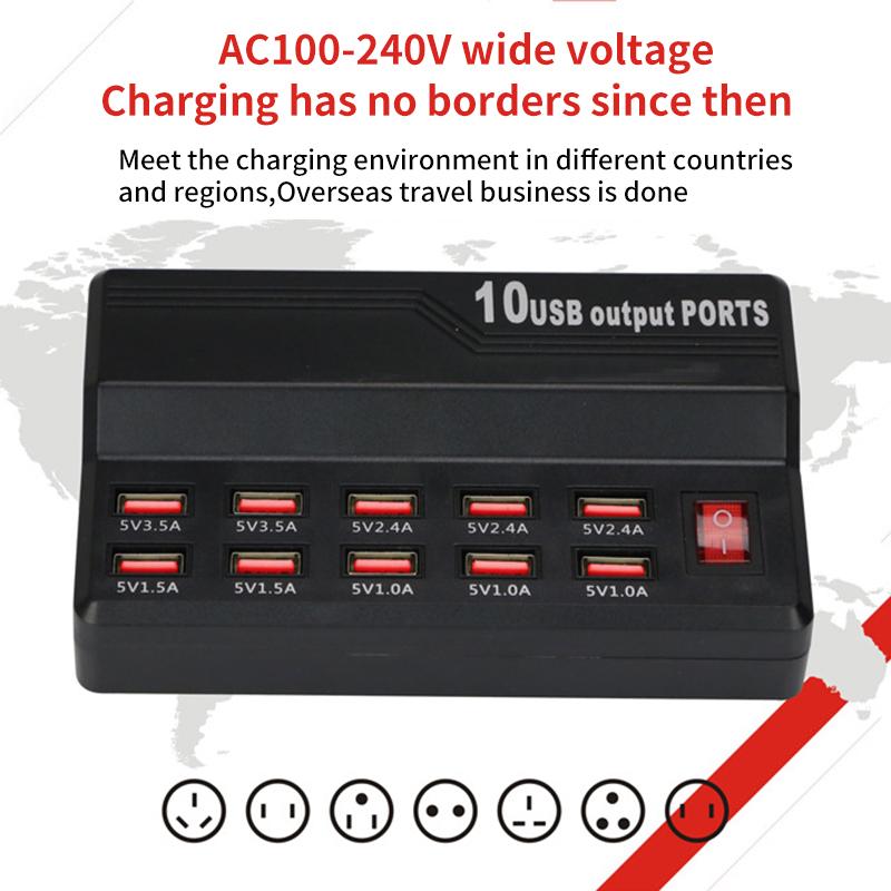 Зарядное устройство с портом usb 10/12 быстрая зарядная станция