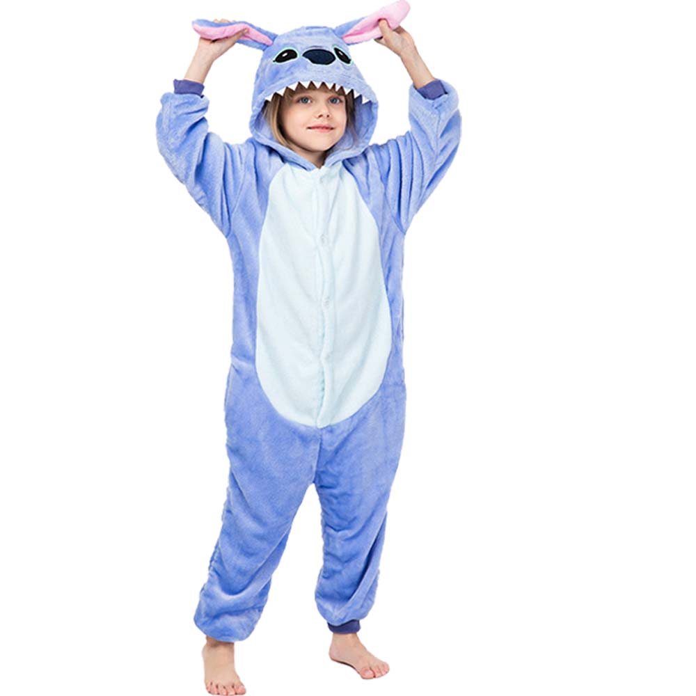 2021 Children Onesie Kids Unicorn Panda Pajamas Animal Cartoon Blanket Sleepers Baby Costume Winter Boys Girls Licorne Jumspuit 2