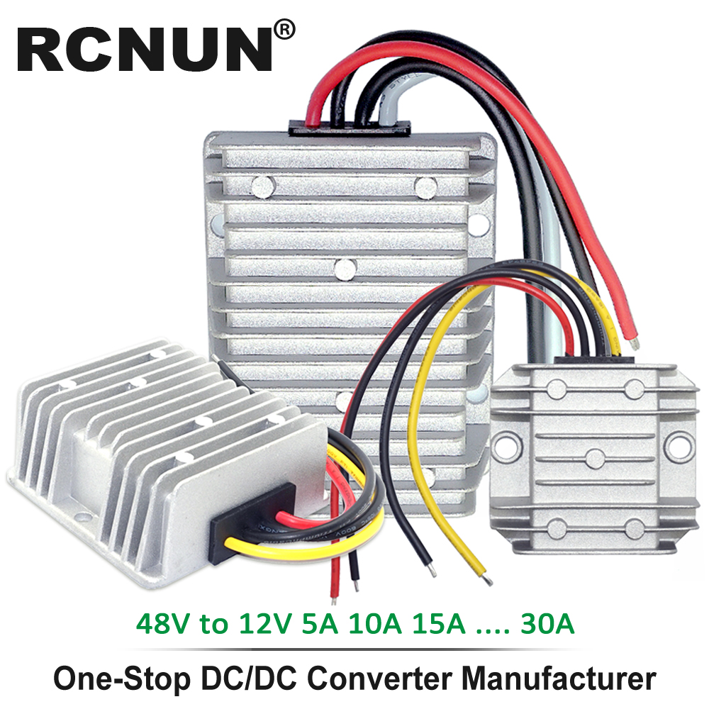 36V 48V to 12V 13.8V 5A 10A 15A 20A 25A 30A Step Down DC DC Converter Golf Cart Voltage Reducer High Quality RCNUN CE RoHS-in Inverters & Converters from Home Improvement