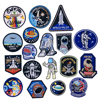 new Arrival Astronauts Cartoon Embroidery Sticker Patch Decorative Paste All Kinds of Clothing Shoes and Hats Decoration