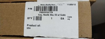 For Original Waters Waters Hclass Syringe 30ul Waters ACQUIOTY 700005279